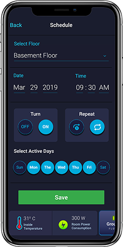 Home Automation System - Schedule on/off for lights and fans