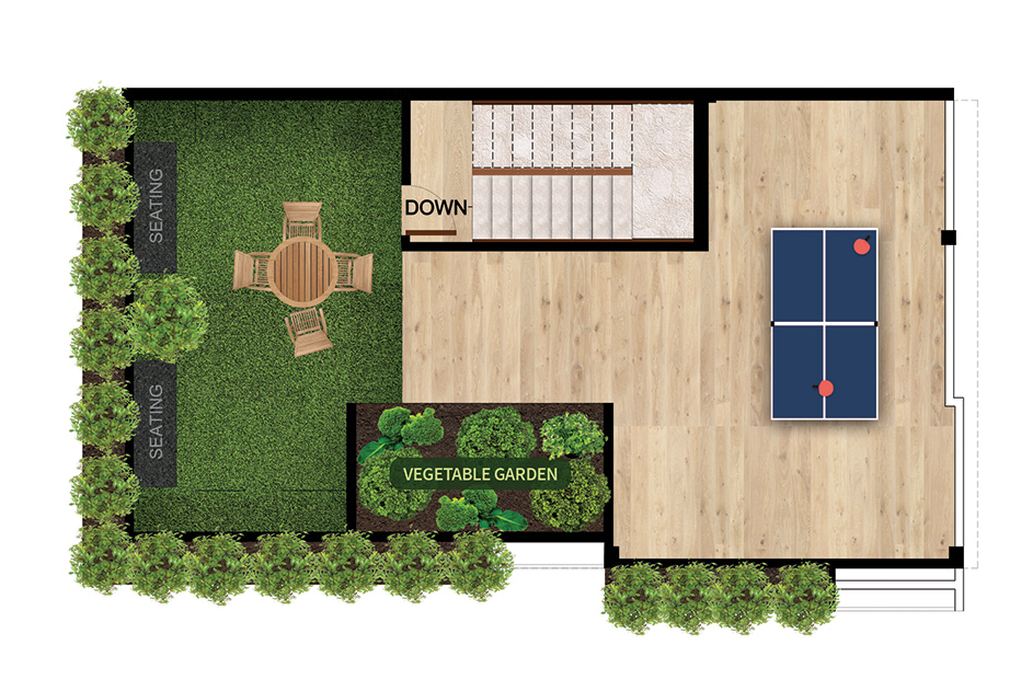 ClaySys Heights Villa Kakkanad - Floor Plan - Terrace Floor